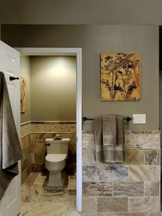 Tumbled Stone In The Bathroom