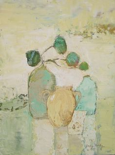 On the Shelf...judy thorley..oil and cold wax