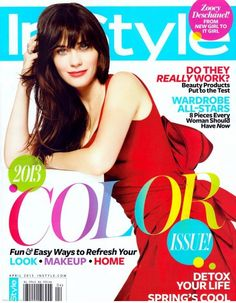 Zooey Deschanel is InStyle's April 2013 Cover Girl