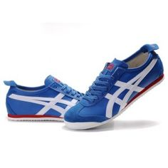 Asics Onitsuka ASNO762 Tiger Mexico   White Navy Blue Red Shoes
