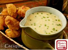 """Dark Beer Queso Fundido – """"Cheese Fondue"""" served with Jalapeño Corn Fritters 