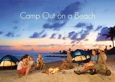 Bucket List || Camp out on a beach