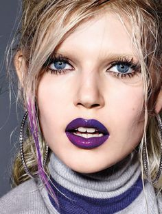 Makeup Artists Meet » Vogue Italia February 2015 Makeup: Marla Belt...