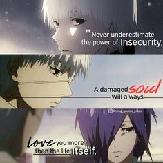 Animequotes Anime quotes Quote Anime  Tokyo ghoul Touka kankei Kankeixtouka