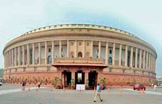 A new building of Parliament House will be erected in the symbol of Indian democracy Parliament Of India, Houses Of Parliament, India Gate, Gate Design, Slums, New Delhi, Varanasi, World Heritage Sites, Architects