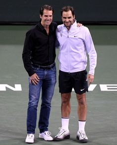 Tommy Haas and Roger Federer 2018