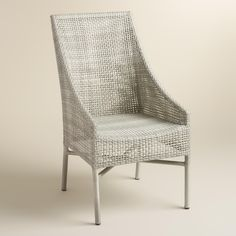Our casual and comfortable chairs feature a lightweight aluminum frame woven with weather-resistant resin wicker in rustic light gray. www.worldmarket.com #WorldMarket Outdoor Entertaining