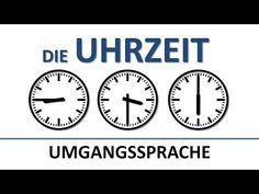 Deutsch lernen: die Uhrzeit (umgangssprachlich) (deutsche Untertitel)/the (colloquial) time - YouTube