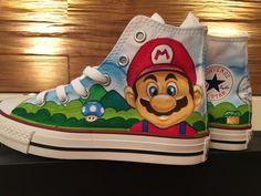 Shoe Art Airbrush  Converse  Super Mario