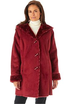 Women's Plus Size Coat In Faux Shearling With Horn Toggle Closure, Hood, Woman Within http://www.amazon.com/dp/B00LROX8RU/ref=cm_sw_r_pi_dp_l4u8vb0AJ4CVT