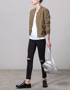 At Stradivarius you'll find 1 Bomber jacket for woman for just 25.99 United Kingdom . Visit now to discover this and more BOMBERS.