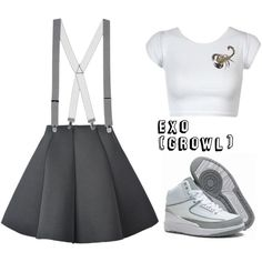 EXO_으르렁 (Growl)_Music Video female. by hosana-tsarnaev on Polyvore featuring polyvore fashion style Topman kpop EXO AirJordan growl