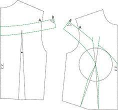 Off shoulder sleeve princess bodice pattern drafting. MIB - Modelagem Industrial Brasileira sonia duarte: Vestido Camila Pitanga