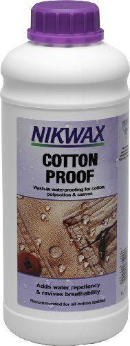 Nikwax Cotton Proof Fabric Water Repellent (33.8 ounces) by Nikwax, http://www.amazon.com/dp/B0019GL9R2/ref=cm_sw_r_pi_dp_5eDosb0W5HBPA