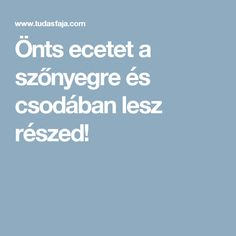 Önts ecetet a szőnyegre és csodában lesz részed! Food And Drink, Cleaning, Tips, Households, Anna, Hearths, Household Chores, Home Cleaning, Counseling