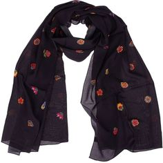 Paul Smith Mini Flower Print Scarf (€106) ❤ liked on Polyvore featuring accessories, scarves, blue, blue shawl, floral scarves, floral print scarves, paul smith scarves and floral shawl