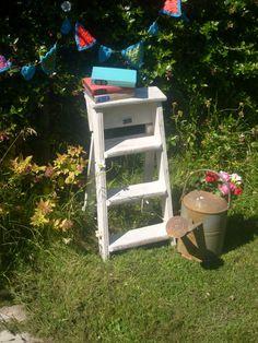 Shabby Chic Vintage Wooden Step Ladder  by RoseGardenEmporium, £24.99