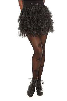 Black Glitter Petticoat #goth #fashion @Hot Topic