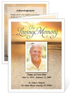 Heavenu0027s Gate Memorial Service Template For Microsoft Word. This Is Just  One Of The Funeral Program Templates Fromour Library Of Printable Memorialu2026