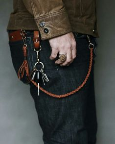 leather lanyard with hook key ring