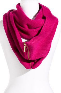 """Approx. dimensions: 12"""" x 77"""". MICHAEL Michael Kors 'Zipper Infinity' Scarf available at #Nordstrom"""