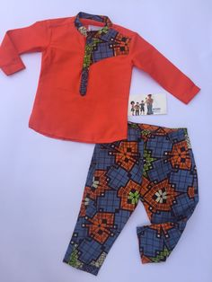 African Print set for a little prince. Made in Ghana. BAYABS is located in Sunyani, Ghana. We ship world wide. +233208404882(Whatsapp/ Viber) find us in Instagram: @bayabsgh_kids @bayabsaccessories