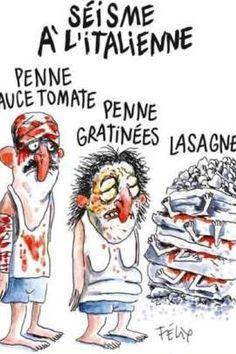 Je n'ai jamais été charlie...Charlie Hebdo' faz charge de sismo na Itália e causa revolta