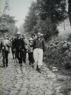 ritorno da un escursione  col Signor Guido e Giovanni