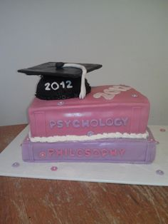 Graduation cake idea (might be cool to have a stack of the titles of Mike's favorite books from seminary!)