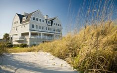 """Overlooking the Atlantic Ocean in Amelia Island, Florida, the Elizabeth Pointe Lodge Bed & Breakfast has been rated 'One of the 12 Best Waterfront Inns' in America. Focused on individualized attention, the B&B is a Nantucket """"shingle style"""" with oversized soaking tubs in each bath, a morning newspaper at your door, full seaside breakfast, 24 hour room service, and complimentary DSL - WIFI...A short bike ride to the historic Seaport of Fernandina Beach."""