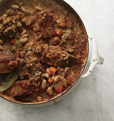 Unbelievable pork-rib and bacon cassoulet. One of the best dishes I've ever made.