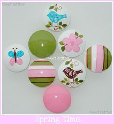 Hand Painted Knob Dresser Drawer Birds by SweetPetitesBoutique, $6.00