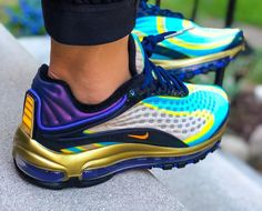check out 9e749 17722 Nike Air Max Deluxe | Midnight Navy/Persian Violet | Mens Trainers [AJ7831-
