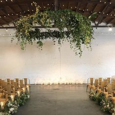 Gold Tolix Chairs from an Atlanta Wedding Rental for a wedding ceremony