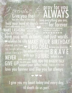 vows wonderful-words