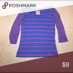 Hollister striped shirt Once worn Tops