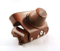 SALE Vintage Leather Camera Case / Brown by VintageOnHudson