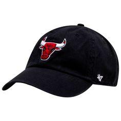 Chicago Bulls Black Primary Logo Clean Up Adjustable Hat 48ade277892