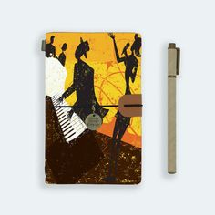 personalized leather journal refillable notebook diary genuine leather cover jazz musician