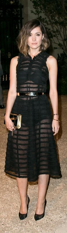 Rose Byrne on the red carpet at the Burberry London in LA Show.