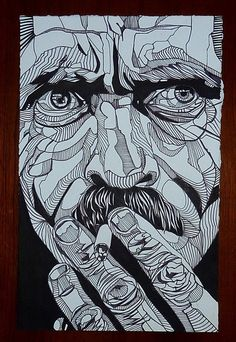 portraits line weight and ink hatching comic style - Google Search