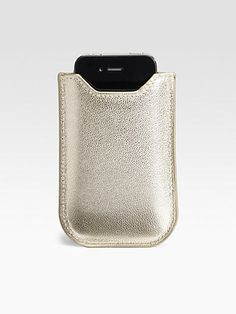 Graphic Image - Metallic Leather Sleeve For iPhone 4/4s - Saks.com