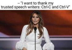 Funniest Memes Mocking Melania Trump's Plagiarized GOP Convention Speech: Melania''s Trusted Speechwriter
