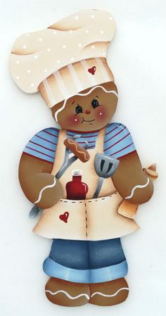 HP GINGERBREAD FRIDGE MAGNET bbq chef