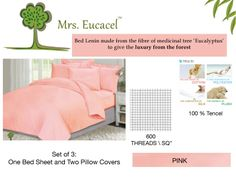 Set of Three - One Bed sheets and two #pillow covers.