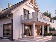 Projekt domu Amarylis 4 157,06 m2 - koszt budowy - EXTRADOM Home Fashion, Mansions, House Styles, Case, Home Decor, Country Homes, Trendy Tree, Mansion Houses, Homemade Home Decor