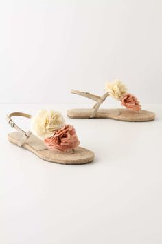blushing peony sandals from Anthropoligie ... even the name sounds pretty ♥ £88