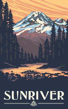 PAL-4060 MS Sunriver Mountain Sunset