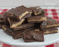 Buckeye Bark-the amazing flavor combination of chocolate and peanut butter without all the work!