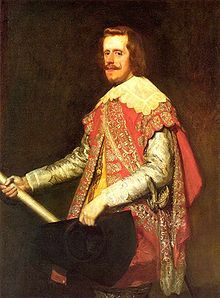 Philip IV (1605 - 1665). King of Spain from 1621 to his death in 1665. He married twice and had children from both marriages. He ruled over Spain during the majority of the Thirty Years War and his death marked the rapid decline of the Spanish Habsburgs.